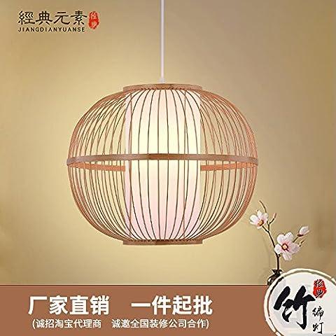 TIANLIANG04 lustres Les lanternes en bambou bambou rotin salon ascenseur restaurant est sur le point de lanternes, naturel, 400*400
