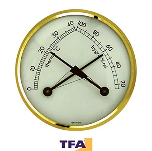 TFA TFA KLIMATHERM Termo-igrometro con lunetta in ottone