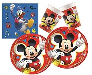 PROCOS 10133060 - Juego de Accesorios para Fiestas con diseño de Mickey Mouse y Donald Duck