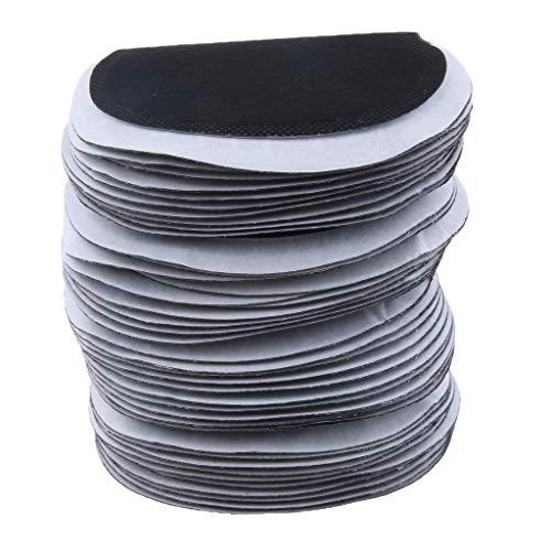50 pezzi tampone sudore monouso scudi ascellari corsa donne accessori - negro