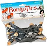 Bongo Cable Ties (Black Band with Brown Bongo) Pack 10 [H112488]