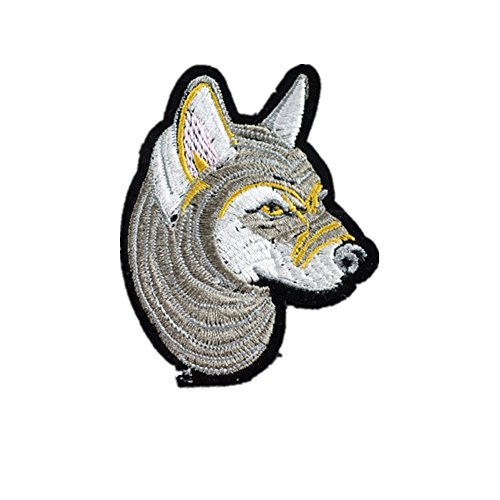 wicemoon 1PC Wolf head DIY Tuch Patch Tuch Paste Nähen Badge Aufnäher (Farbe: multicolor) (Material Eisen Patch)