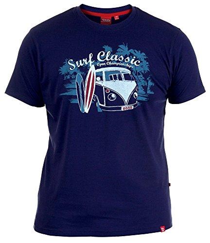 Uomo D555 Joseph Premium T-Shirt A Girocollo Top Blu Navy taglia M L XL XXL - cotone, Navy, 100% cotone, Uomo, Medium