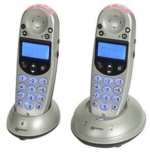 Geemarc Clearsound AmpliDECT 252 Téléphone sans fil DECT son amplifié 2 combinés Argent