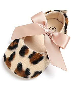 Igemy 1Paar Baby Kleinkind Mädchen niedlich Leopard Bedruckte Krippe Schuhe Soft Prewalker Soft Sole Anti-Rutsch...