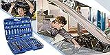 Steckschlüsselsatz Hug Flight® Werkzeugkoffer mit Werkzeug Ratschenkasten Werkzeugset Knarrenkasten 171tlg -
