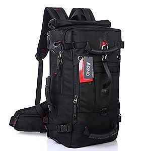 ARINO Nouvelle Version Sac à Dos de Randonnée Résistant pour Adulte, Sac au Dos Etanche avec Mousqueton à Combinaison pour Trekking, Alpinisme, Voyage - 50L / 60×35×20 Centimètres