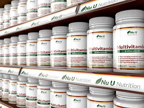 Vitamine & Mineralien – Männer & Frauen – 24 Multivitamine & Mineralstoffe in einer Tablette – Versorgung für bis zu 1 Jahr – für Vegetarier geeignet 365 Tabletten Nahrungsergänzungsm - 7