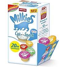 Animonda Milkies Leche para Gato, multipaquete en porciones, 4 Paquetes de 20 ...