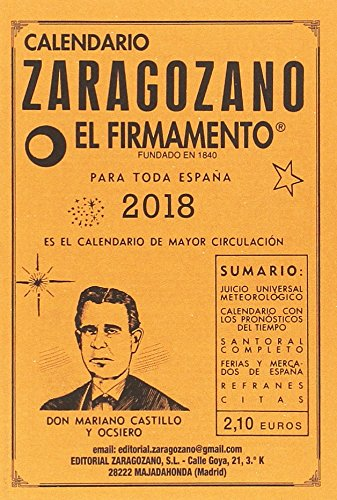Calendario Zaragozano 2018 por Castillo y Ocsiero Mariano