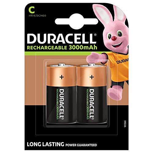 Duracell Recharge Ultra C Baby Akku Batterien LR14 3000 mAh, 2er Pack