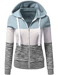5eb2065f1048 Qingxian Damen Kapuzenpullover Sweatjacke Hoodie Sweatshirt Zipper Hoodies  Sweatshirt Oberteil…