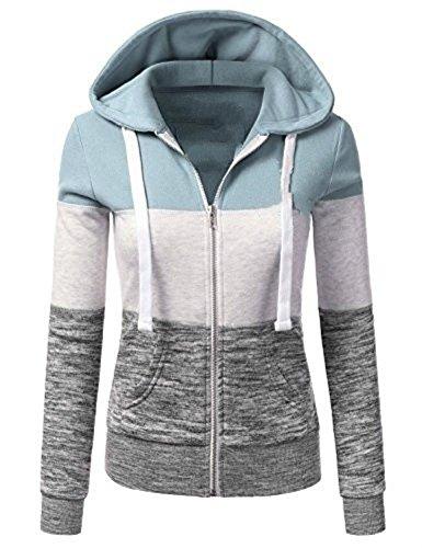Qingxian Damen Kapuzenpullover Sweatjacke Hoodie Sweatshirt Zipper Hoodies Sweatshirt Oberteil Pullover