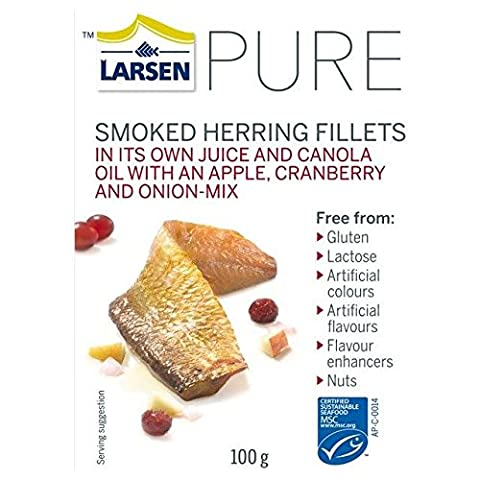 Larsen Pure Kipper Fillets with Apple, Cranberry & Onion 100g