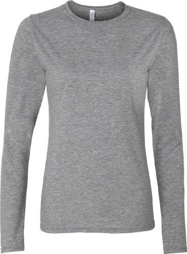 Gildan Softstyle® Ladies´ Long Sleeve T-Shirt Grau - Sport Grey