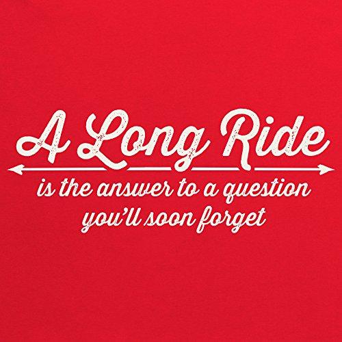 A Long Ride T-Shirt, Herren Rot