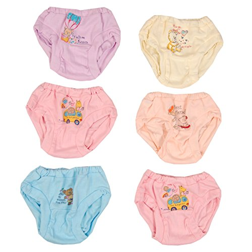 Gurulripa Panty For Baby Girl Inner Wear Drawer Panty Bloomer Underwear Baby Girl Brief Girl Casual Nikker For Baby Girls (6, 18-24 Months)