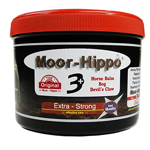 Moor-Hippo 3 (3 in 1) Pferdesalbe Pferdebalsam mit Moor und Teufelskralle extra stark (500ml)