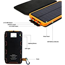 Foldable USB Solar Charger Sunpower Panel 8000 MAH