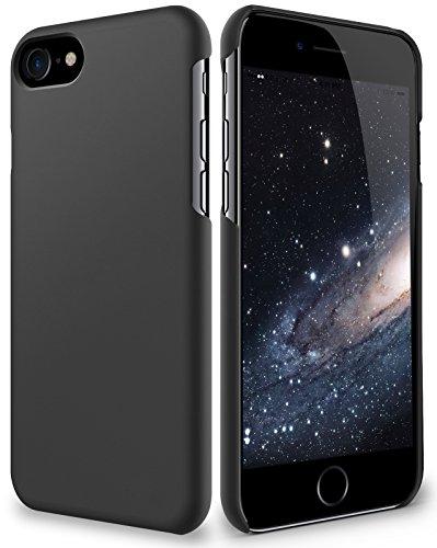 iPhone 8 Hülle - vau SlimShell Case - Schutzhülle, Tasche Rückseite (matt schwarz) matt schwarz