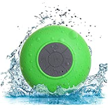 Portable Waterproof Bluetooth Speaker£¬VMAE Mini Speaker Wireless Bluetooth 3.0 With Control Buttons and Dedicated Suction Cup - Showers, Bathroom, Pool, Boat, Car for CellPhone,Tablet(Green)