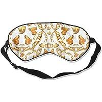 Eye Mask Eyeshade Golden Pattern Sleeping Mask Blindfold Eyepatch Adjustable Head Strap preisvergleich bei billige-tabletten.eu