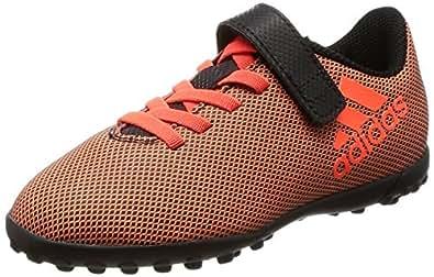 adidas Jungen X 17.4 TF J Fußballschuhe, Mehrfarbig (Core Black/Solar Red/Solar Orange), 32 EU