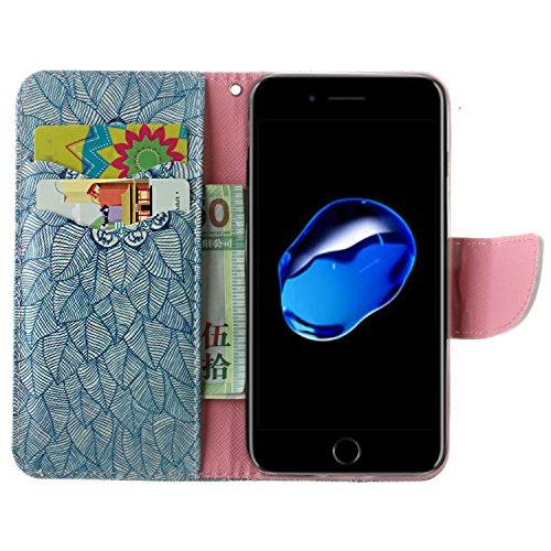 Voguecase® Pour Apple iPhone 7 Plus 5,5 Coque, Étui en cuir synthétique chic avec fonction support pratique pour iPhone 7 Plus (ancre coloré)de Gratuit stylet l'écran aléatoire universelle tapis vert 01