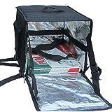 """pk-64z: 16""""X16"""" x 16""""entrega de comida bolsa, 14pulgadas pizza delivery bolsa/mochila, bolsa térmica porta alimentos para Scooter, entrega bolsa aislante térmico, carga lateral, cierre de cremallera de 2Vías"""