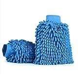 Cradifisho 2PCS Car Wash borsa a mano morbido asciugamano in microfibra, Anthozoan guanti da bagno, a forma di corallo