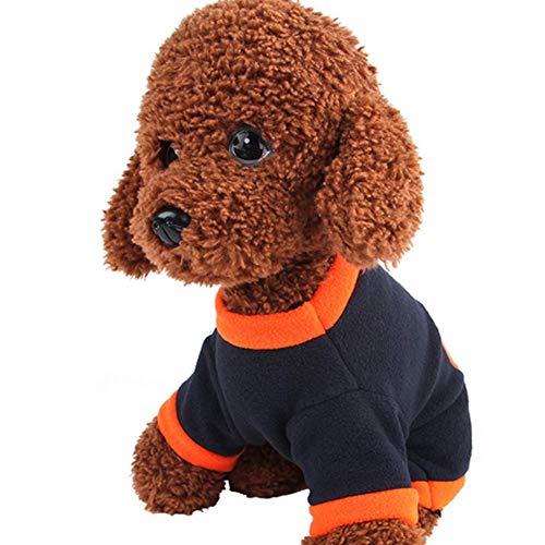 Fliyeong Hunde-Kostüm, für Halloween, Kürbis-Kostüm, für Hunde/Katzen, Fleece, mit Kapuze, für Herbst und Winter, Größe ()