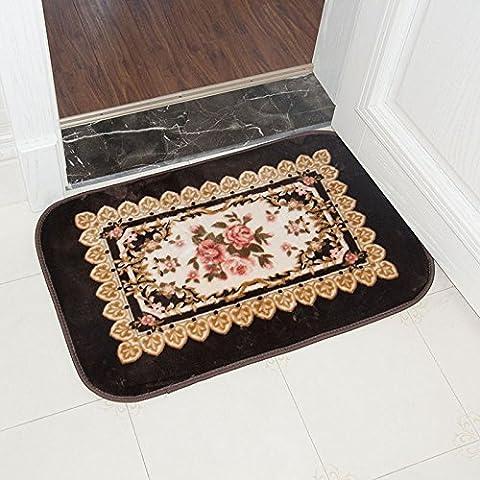BLZZR* kontinentale Küche Tür Mat Matten Matten rot rosa Fuß Fußmatte Fußmatte WC ,50cm×80cm, Schokolade