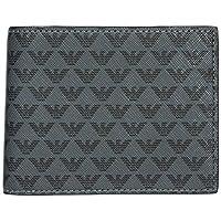 Emporio Armani portafoglio portamonete uomo bifold originale nero portafoglio portamonete uomo