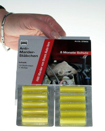 Marderschutz für 8 Monate 10 x Antimarder Stäbchen Marderabwehr