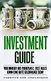 Investment Guide: Von Whisky bis Parkplatz, fast alles kann eine gute Geldanlage sein! Viele Ideen mit denen auch Schüler schnell gutes Geld verdienen können