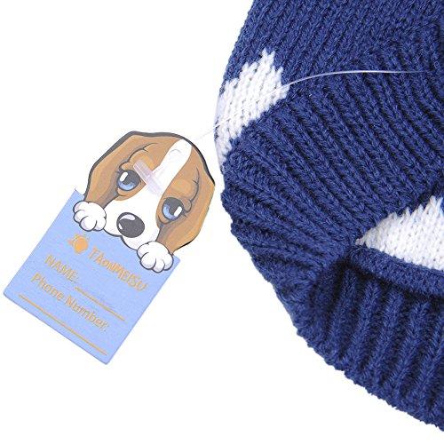 Weihnachten Winter Hunde Sweater Pullover Hundbekleidung (XXL, Blue) - 3