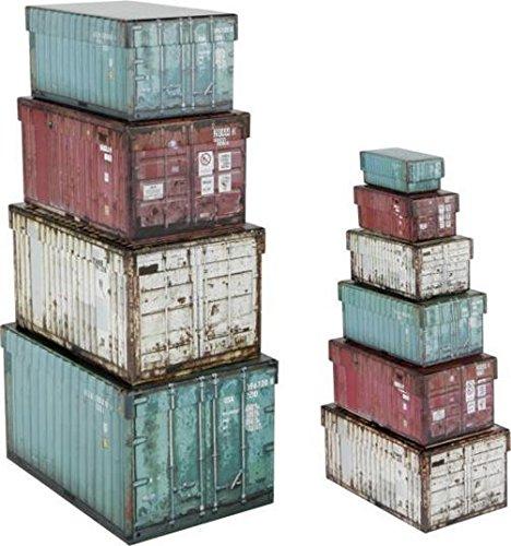 546139 Deko Geschenkbox Geschenkschachtel Aufbewahrung Schachtel Box Container Groß 10er Set Rechteckig Türkis Beige Beere Pink 8,5x4,2x3cm bis 25,5x17,5x15cm -
