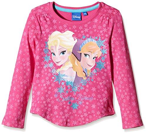 Disney Frozen Love-T-shirt  Bambina, Fucsia, 4 anni