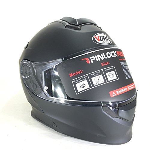 Vcan nuovo casco moto v271 casco bluetooth moto touring capovolgere flipup casco modulare sportivi caschi - color : nero opaco (m)
