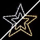 LED Stern mit 72 LEDs leuchtet wahlweise warmweiß oder weiß 8 schaltbare Progr.