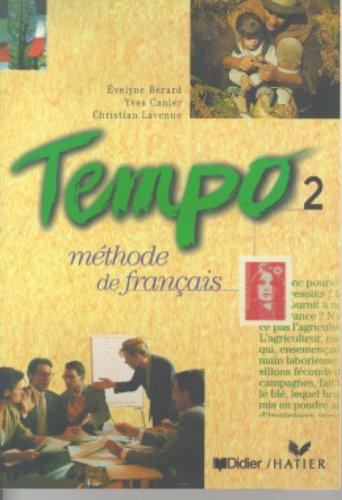 Tempo, 2 : Mthode de franais (Livre de l'lve)