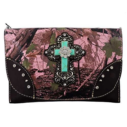 american-bling-sacs-bandouliere-femme-rose-pink-camo-cross-taille-unique