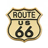 Route 66 USA Mainstreet Mother Road Nostalgie Retro Patch Aufnäher Aufbügler 0980 A