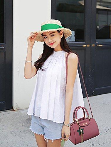 CLOTHES- Trend di modo delle borse degli uomini della borsa del sacchetto del sacchetto del sacchetto del sacchetto del messaggero delle donne europee ed americane Sacchetto delle signore della borsa  Rubber pink