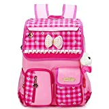 EssVita Kid Child Princess Style School Bags Backpack Waterproof Grils School Rucksack for Primary Students (Style A Pink)