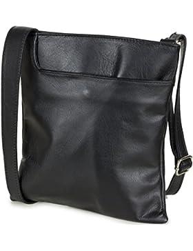Taschenloft kleine Damen Umhängetasche 22x24x3cm | Crossover Nappa-Leder-Tasche