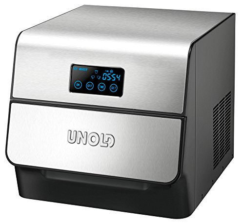 Unold 48955 Built-in/freestanding ice cube maker 150W Negro, Acero inoxidable máquina de cubo de hielo - Máquina productora de hielo (150 W, 350 mm, 295 mm, 290 mm, 9,8 kg)