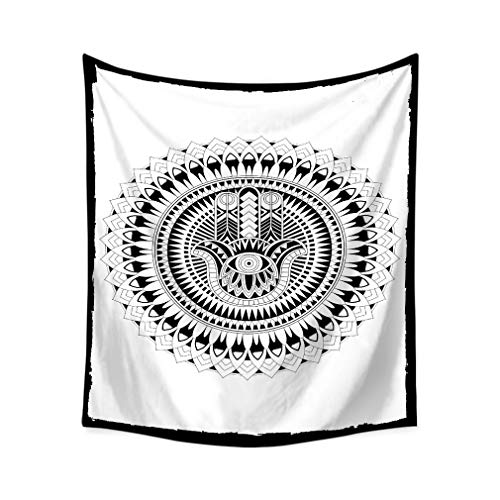 Lihan Tapicería Indian Bohemio Elefante Hippie Mandala de Pared Tapiz Estampado Floral Decoración Naturaleza Hogar para Grande Picnic Mantel, Mandala 3 150 * 200cm/59 * 79inch