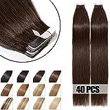 40 Pcs Extensions Adhesives Cheveux Naturels Bande Adhesive Tape in Human Hair...