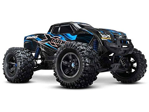 Preisvergleich Produktbild Traxxas RC X-Maxx 77076-4 Brushless 1:5 Monstertruck 4WD 2.4GHz TQi Wireless Stabilitätssystem (TSM) NEW Farbe: BLAU + Fantic26 Sticker